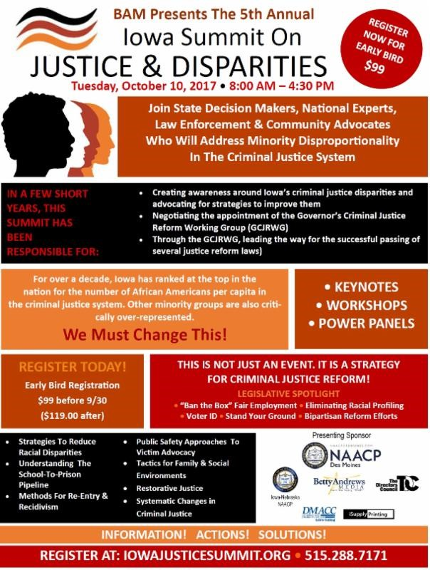 Iowa Summit on Justice and Disparities